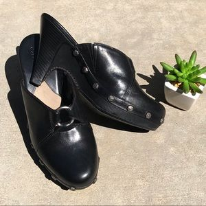Cole Haan Kenna Black Leather Mules Clogs Sise 6